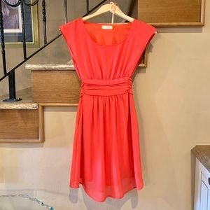 XS Coral dress by Pins and Needles